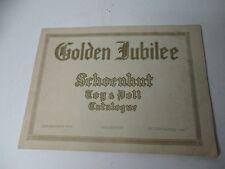 1922 SCHOENHUT Golden Jubilee Toy & Doll Catalog