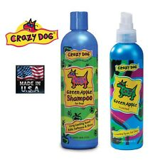 2 Pc Juego Crazy Dog Premium Acondicionador Pet Shampoo&cologne Spray / Spritz U