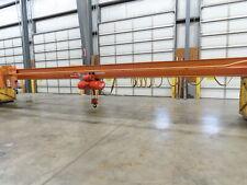 Abell Howe 2 Ton Under Hung Bridge Crane 34 6 Span Remote Power Trolley Hoist