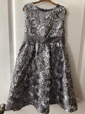 Rare Editions Girls Size 6X, Silver Dress, Holiday, Xmas, Dance, Wedding, Party