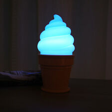 Ice Cream Cone Shaped Night Light Desk Table LED Lamp For Kids Children Party