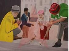 Dice Money, black art nostalgic gambling scene
