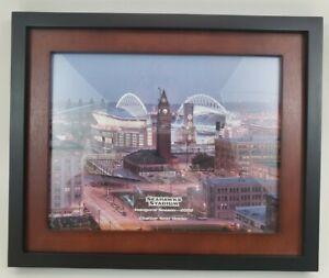 Seattle Seahawks Stadium Inaugural Season 2002 Photo Charter Seat Holder Framed