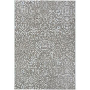 """Couristan Palmette Mushroom-Ivory In-Out Rug, 5'3"""" x 7'6"""" - 23293125053076T"""