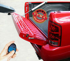 Power pickup truck tailgate lift assist for towing RV vented tailgate