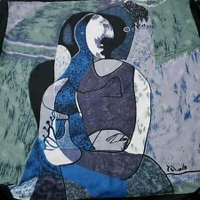 Picasso Scarf Square Art To Wear Womens Retro Vintage Hipster Abstract Cubist
