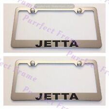 2X Volkswagen JETTA Stainless Steel License Plate Frame Rust Free W/ Cap