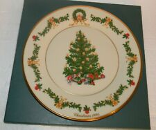 "Lenox Christmas Trees Around The World Plate Austria 1995 B829 10.75"" dia"