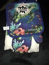 New listing New 3pcHawaiian Cotton Kitchen Set Pot Holder Oven Mitt Towel Hawaii Sea Turtle