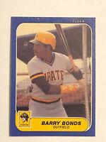 1986 Fleer Updated Barry Bonds Card #U-14 EX Rookie RC Pirates