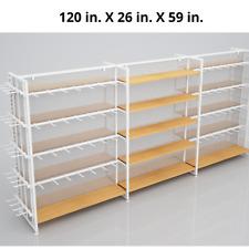 Retail Shelves Retail Display Shelving Store Fixture Wood Steel 120x 26x 59
