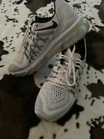 White Nike Air Max Womens Size 8 Full Bubble