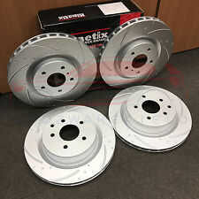 FOR NISSAN 350Z FRONT REAR KINETIX DIMPLED GROOVED PERFORMANCE BRAKE DISCS SET