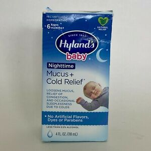 Highland's Baby Nighttime Mucus & Cold Relief Syrup Homeopathic With Syringe