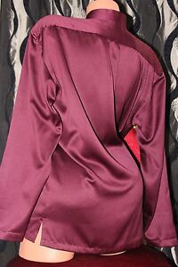 "NARMAI TAILORS soft sleek satin unisex ladies shirt blouse top Bust 47"""