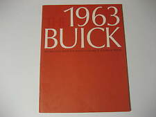 1963 Buick Deluxe Large Size Brochure
