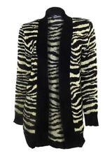 Hüftlange Damen-Pullover & -Strickware mit V-Ausschnitt und Tiermuster
