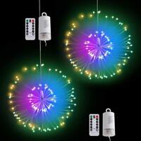 Remote Control Firework 120 LED Copper Wire Strip String Lights Party Home Decor