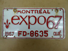 1967 QUEBEC EXPO LICENSE PLATE TAG NUMBER N 29692 VINTAGE PQ MONTREAL FD-8635
