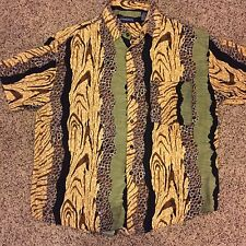 Vintage McGregor HAWAIIAN Safari style SHIRT 100% Rayon Men's Size Large