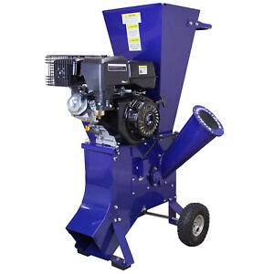 Wood Chipper Garden Shredder Petrol 15HP Heavy Duty Chipping 420cc Tool Kit