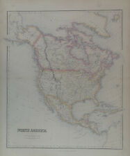 More details for 1859 north america large original antique map by g.h. swanston & fullarton