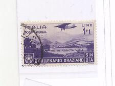 Y883-REGNO-BIMILLENARIO ORAZIANO-P.A. £ 1 + 1 USATO PERIZIATO