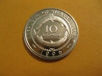 "1996 Sierra Leone coin 10 Leones ""FISH"" unc beauty, sweet Africa coin"