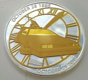 Back to the Future Silver & Gold Plated Coin Time Travel Movie Novelty
