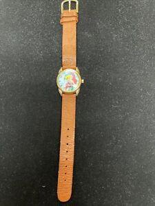 LITTLE MERMAID Watch Timex Ariel Flounder Disney Leather Band