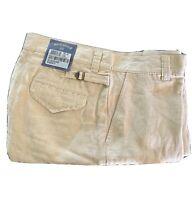 New Bills Khakis Walker Linen Short 34 Men's Khaki Standard Fit TWS-KLT $100