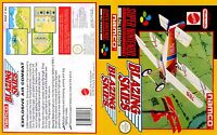 - Blazing Skies Super Replacement SNES Box Art Case Insert Cover For UGC Only