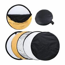 "110cm 43"" 5 in 1 Collapsibl​e Photo Light Diffuser Round Reflector Disc + Bag"