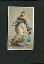 ANTIQUE VIRGIN MARY MADONNA MARIA LILY GERMAN FRANZ IGNAZ GUNTHER COLOR PRINT