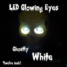 LED GLOWING EYES HALLOWEEN WHITE 5MM 9 VOLT WIDE ANGLE 9V 12""