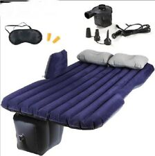Car Inflatable Mattress Back Seat Cover Air Travel Bed Camping Pad Sex 12V Pump