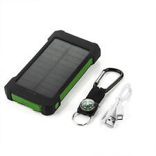 SOLAR Power Bank 20000mAh 2 USB External Battery Charger Phone Tablet Portable