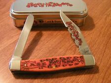CASE XX New Halloween Persimmon Orange Bone Handle 2 Blade Moose Knife/Knives