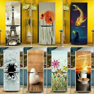 Self-adhesive 3D Door Wall Fridge Stickers Bookshelf Wrap Mural Home Decor AU