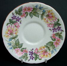 "Paragon Country Lane Pattern Lg Soup / Breakfast Tea Cup Saucers 6"" Look in VGC"