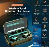 IPX7 Wireless Earphones Bluetooth Headphones TWS Earbuds For iPhone Samsung