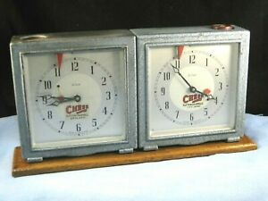 VINTAGE ENFIELD CHESS GAME PLAYERS COMPETITION TORNAMENT DOUBLE CLOCK TIMER