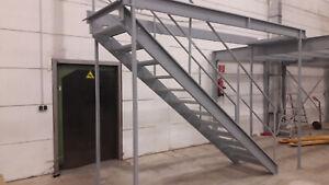 Rauscher -  Industrie Treppe Stahltreppe Außentreppe Metalltreppe 12 Stufen
