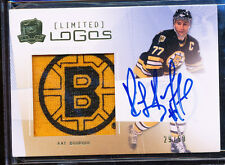 2009-10 THE CUP LIMITED LOGOS RAY BOURQUE AUTO JERSEY PATCH BRUINS LOGO 29/50