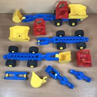 Lego Duplo Toolo Bundle Wheels, Vehicles, Chassis, digger scoops etc