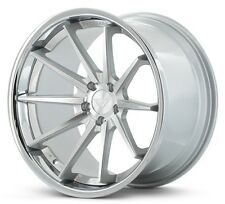 19x9.5/10.5 Ferrada FR4 5x114 +20/25 Machine Silver/Chrome Lip Rims (Set of 4)