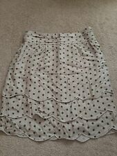Forever 21 Blogger Green Spot Dot Scallop Cream Pencil Skirt NWT Small S