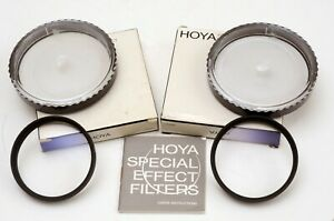 2 Hoya 58mm close up, supplementary lenses +1 & +2 both with boxes and keepers