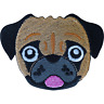Boxer Bulldog Pug Patch Iron Sew On Clothes Bag Dog Embroidered Badge Applique