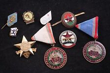 Hungary Hungarian 9 Badge Medal Lot Exemplary Service MHSz KISz Red Cross Army